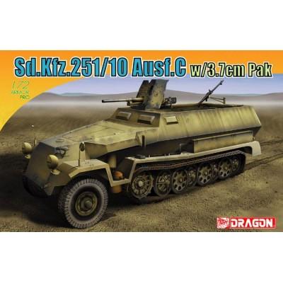 SEMIORUGA Sd.Kfz. 251/10 C & Pak-36 (37 mm) - Escala 1/72 - DRAGON Models 7314