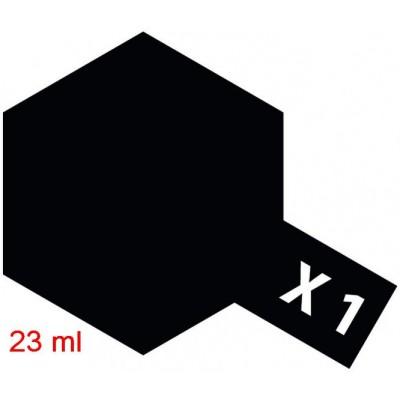 PINTURA ACRILICA NEGRO BRILLANTE X-1 (23 ml) - TAMIYA 81001 / X-1