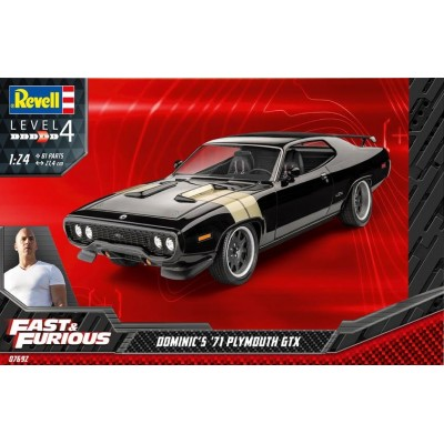 PLYMOUTH GTX 71 DOMINIC FAST AND FURIOUS - ESCALA 1/24 - REVELL 07692