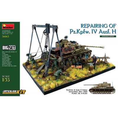 BIG SET REPARANDO PANZER IV Ausf. H -Escala 1/35- MiniArt Model 36063