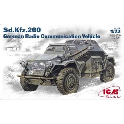 VEHICULO BLINDADO Sd.Kfz. 260 (Comunicaciones) -1/72- ICM 72431