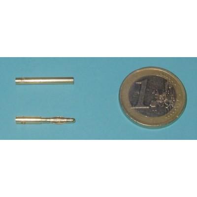 CONECTORES 2MM ORO MACHO/HEMBRA