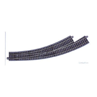 VIA GL DESVIO CURVA IZQUIERDA R3/R4 (R: 434,50 mm) 30º