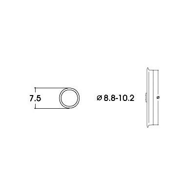 AROS DE ADHERENCIA 8,8 - 10,2 mm (10 unidades)