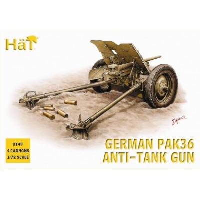CAÑON PAK-36 (37 mm) & Dotacion (4 unidades) -1/72- HAT 8149
