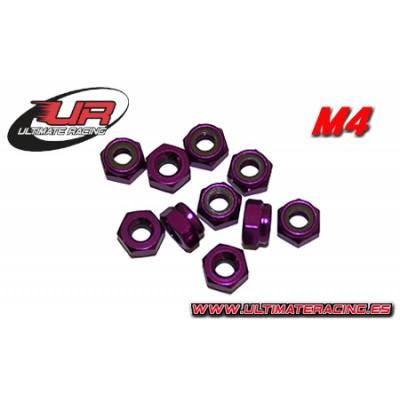 TUERCA AUTOBLOCANTE M4 (Purpura)