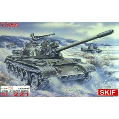 CARRO DE COMBATE T-55 A -1/35- Skif MK221