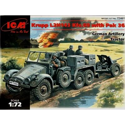 CAMION KRUPP L2H143 SD.KFZ.69 Y PAK 36 (37 mm)