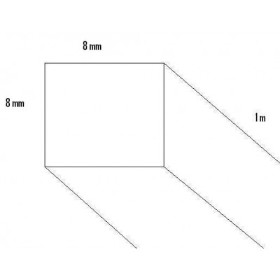 LISTON BALSA (8 x 8 x 1.000 mm)