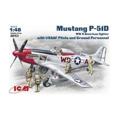 NORTH AMERICAN P-51 D MUSTANG & PERSONAL DE TIERRA -Escala 1/48- ICM 48153