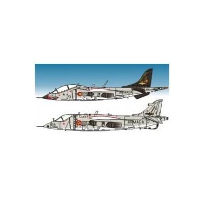 CALCAS McDONNELL DOUGLAS AV-8 A MATADOR HARRIER 1/48 - Series Españolas SE148