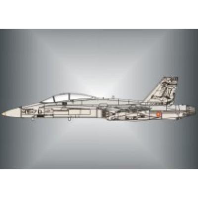 CALCAS EF-18 HORNET ALA Nº15 (75.000 horas) 1/32 - Series Españolas SE1132