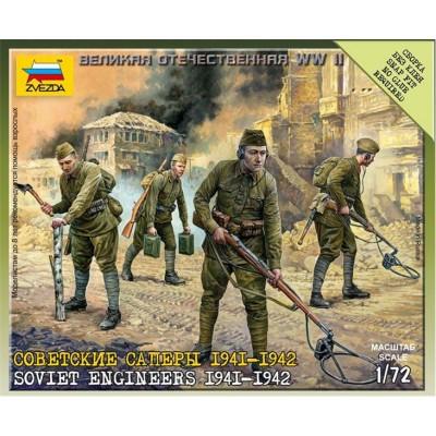 ZAPADORES DE ASALTO SOVIETICOS 1941 - 1942 (4 figuras) -Escala 1/72- Zvezda 6108