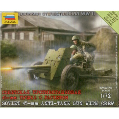 CAÑON ANTICARRO SOVIETICO 45 mm 1/72
