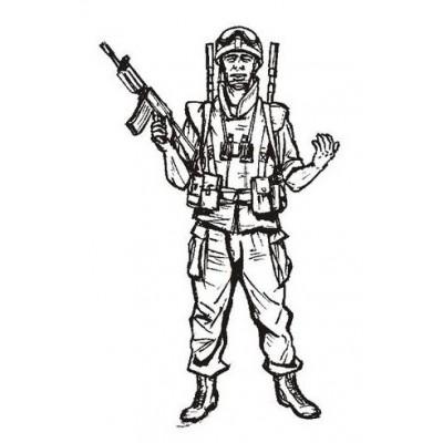 SOLDADO ISREALI PATRULLANDO Lanza minas (LIBANO 2.006) Resina 1/35