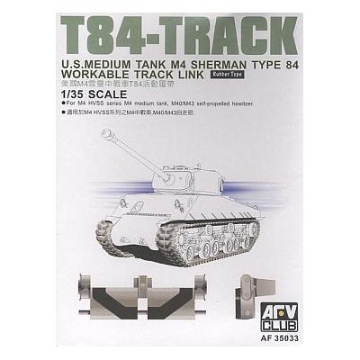 SET ORUGA T84 CARRO M-4 SHERMAN HVSS