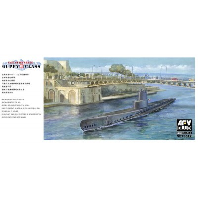 SUBMARINO CLASE GUPPY 1B (SS Leonardo de Vinci) 1/350