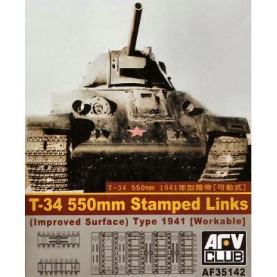 SET ORUGA CARRO T-34 (550 mm) - AFV CLUB AF35142