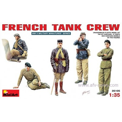 TRIPULACION DE CARRO FRANCES WWII ESCALA 1/35 MINIART 35105