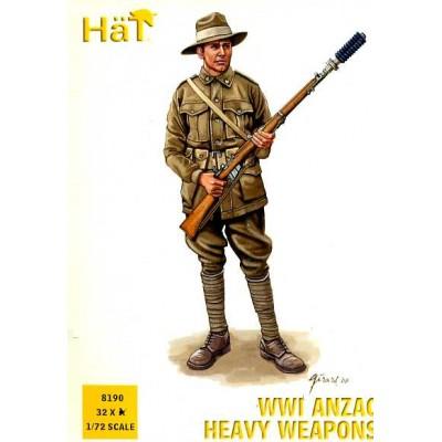 INFANTERIA ANZAC, ARMAS PESADAS 1ª G.M. (32 piezas) 1/72