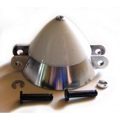 CONO ALUMINIO VENTILADO 40 mm / EJE: 5,0 mm / HELICE: 12X8