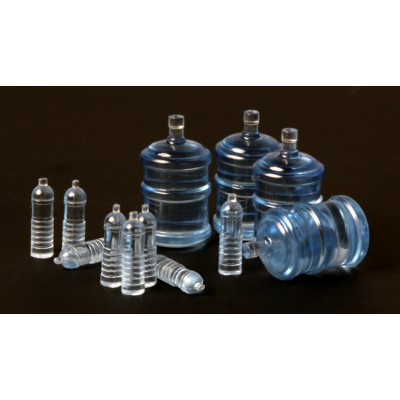 SET BOTELLAS TRASLUCIDAS AZUL