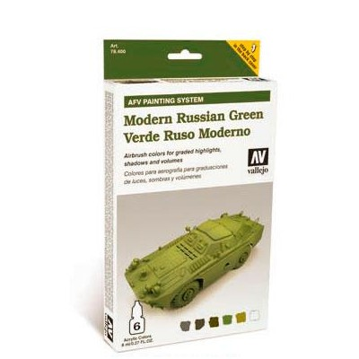 AFV PAINTING SYSTEM: VEHICULOS VERDE RUSO MODERNO (6 botes - 8 ml)