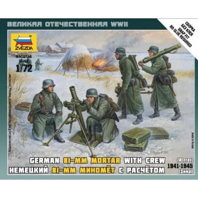 MORTERO 81 mm ALEMAN Y DOTACION UNIFORME INVIERNO - ESCALA 1/72 - ZVEZDA 6209