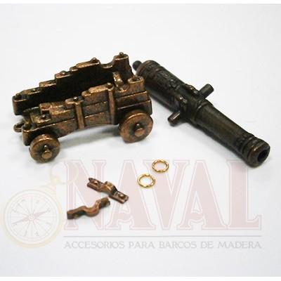 CAÑON CON CUREÑA METALICA 40 mm