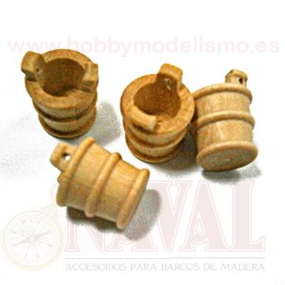 CUBO MADERA DE BOJ 9 mm (4 unidades)