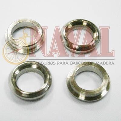 OJO DE BUEY METAL 12 mm (4 unidades)