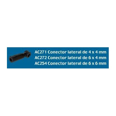 CONECTOR LATERAL 6X4MM