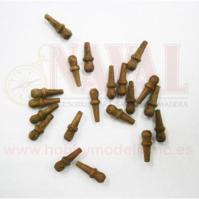CABILLA DE NOGAL 6 mm (20 unidades)