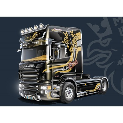 SHOW TRUCK: SCANIA R730 V8 TOPLINE Imperial 1/24