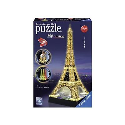 PUZZLE 3D 216 pzas. TORRE EIFFEL - Night Edition RAVENSBURGER 12579