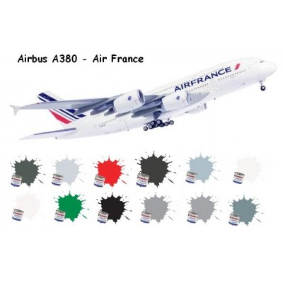 SET COLORES AIRBUS A380 AIR FRANCE