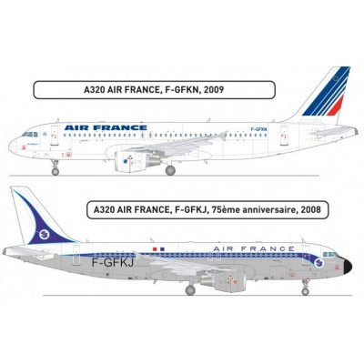 SET COLORES AIRBUS A320 AIR FRANCE