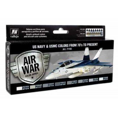 AIR WAR: U.S. NAVY & U.S.M.C. COLORS From 70´s to present (8 colores)