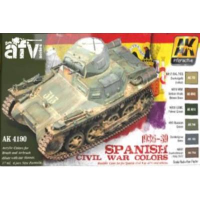 SET COLORES Guerra Civil Española 1936-39