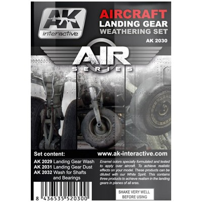 AIR series: AIRCRAFT LANDING GEAR WEATHERING SET (3 botes)