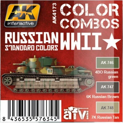 AFV series: RUSSIAN 2ª G.M. STANDARD COLORS
