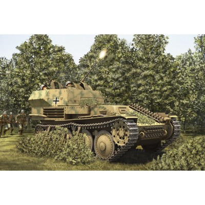 CARRO ANTI-AEREO PZ. KPFW 38(t) FLAK 38 20 mm -Escala 1/35- Hobby Boss 80140