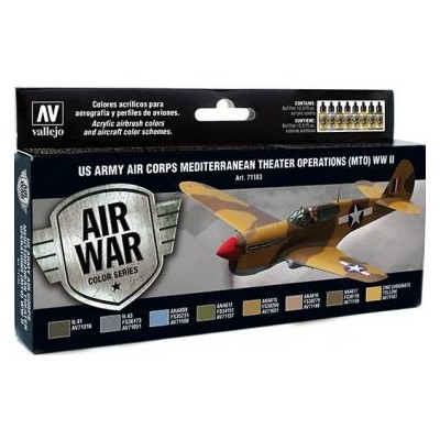 AIR WAR: U.S. ARMY AIR CORPS MEDITERRANEAN THEATER OPERATIONS WW II (8 colores)