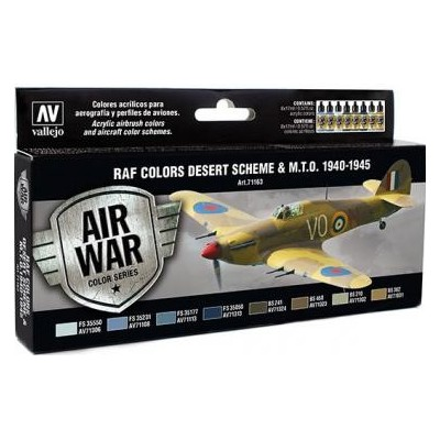 AIR WAR: R.A.F. COLORS DESERT SCHEME & M.T.O. 1940 - 45 (8 colores)
