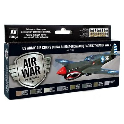 AIR WAR: U.S. ARMY AIR CORPS CHINA - BURMA - INDIA (C.B.I.) PACIFIC THEATER WW II (8 colores)