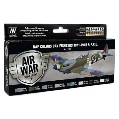 AIR WAR: R.A.F. COLORS DAY FIGHTER 1941 - 45 & P.R.U. - Acrylicos Vallejo 71162