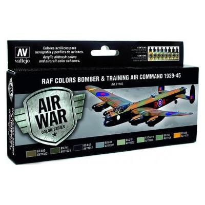 AIR WAR: R.A.F. COLORS BOMBER & TRAINING COMMAND 1939 - 45 (8 colores)