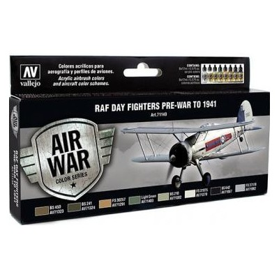 AIR WAR: R.A.F. COLORS DAY FIGHTERS PRE-WAR TO 1941 (8 colores)