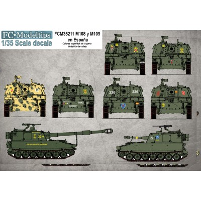 CALCAS M-108 / 109 ESPAÑOLES 1/35 - FC Modeltips C35211