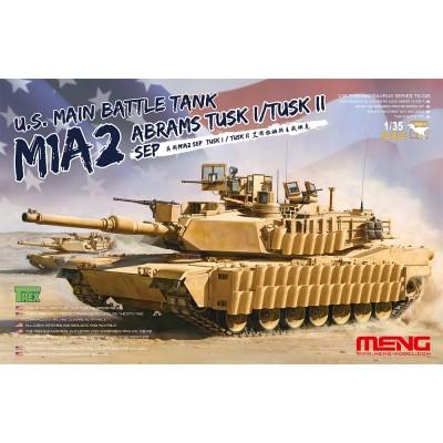 CARRO DE COMBATE M-1 A2 ABRAMS TUSK I / TUSK II - Meng Model TS026